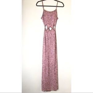 Scala blush pink Sequin backless prom pageant gown
